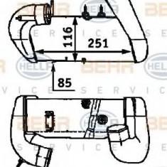Intercooler, compresor AUDI 90 1.9 TDI - HELLA 8ML 376 723-271 - Intercooler turbo
