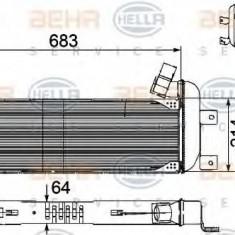 Radiator, recirculare gaze de esapament SCANIA P, G, R, T - series G 400, P 400, R 400 - HELLA 8ML 376 756-191
