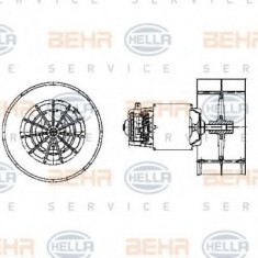 Ventilator, habitaclu BMW 7 limuzina 750 i, iL V12 - BEHR HELLA SERVICE 8EW 009 158-631 - Motor Ventilator Incalzire