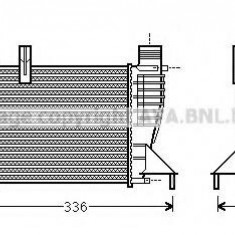 Intercooler, compresor NISSAN NOTE 1.5 dCi - AVA QUALITY COOLING DN4340 - Intercooler turbo