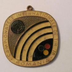 "MMM - Placheta Romania Sport ""Campionatele Internationale de Tir 1978"""