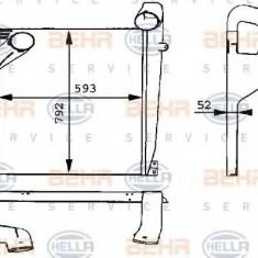 Intercooler, compresor MERCEDES-BENZ MK 1424, 1424 L - BEHR HELLA SERVICE 8ML 376 724-011 - Intercooler turbo