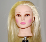 Cap practica par blond 60 cm +suport prindere