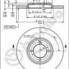 Disc frana FORD ESCORT Mk II 2.0 RS - BREMBO 08.1659.20 - Discuri frana