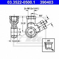 Conector, conducte metal - ATE 03.3522-0500.1