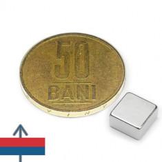 Set 20 buc magneti puternici neodim 8x8x4 mm neodymium ndfeb