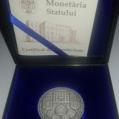 Medalie Monetaria Statului - 140 ani de la infiintare ( argint 0, 800 - 21 grame) - Medalii Romania, An: 2010