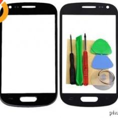 Sticla Display Fata Samsung Galaxy S3 MINI i8190 NEGRU + scule si adeziv - Display LCD