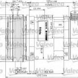Compresor, climatizare - VALEO 815883