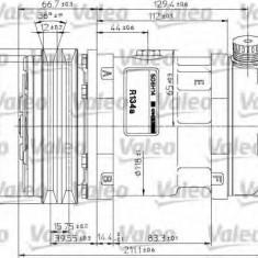 Compresor, climatizare - VALEO 815883 - Compresoare aer conditionat auto