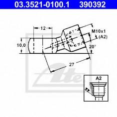 Conector, conducte metal - ATE 03.3521-0100.1
