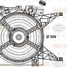 Ventilator, radiator NISSAN NV200 EVALIA 1.5 dci - HELLA 8EW 351 040-601, PIERBURG