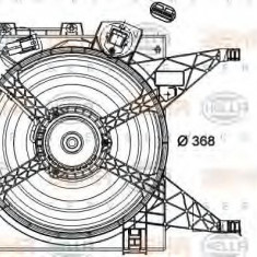 Ventilator, radiator NISSAN NV200 EVALIA 1.5 dci - HELLA 8EW 351 040-601 PIERBURG