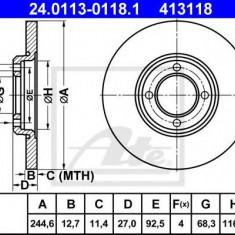 Disc frana FORD CAPRI 1700 - ATE 24.0113-0118.1 - Discuri frana REINZ