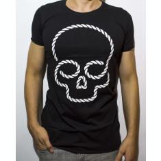 Tricou - tricou club tricou cap mort tricou negru tricou slim cod - 43