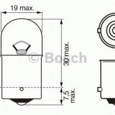 Bec, lampa frana / lampa spate ALFA ROMEO 166 limuzina 2.4 JTD - BOSCH 1 987 302 284 Sachs