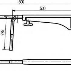 Suport montare, oglinda retrovizoare exterioara - HELLA 8HG 501 257-042