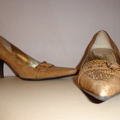 Pantofi piele Dolce & Gabbana originali - Pantof dama Dolce & Gabbana, Culoare: Din imagine, Marime: 39, Piele naturala