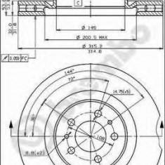 Disc frana FERRARI 456 GT/GTA 5.5 - BREMBO 09.5183.40 - Discuri frana