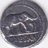 Replica dupa moneda romana de argint Denarius ( emisa de Cezar in 49 i.Hr. ) - Moneda Antica