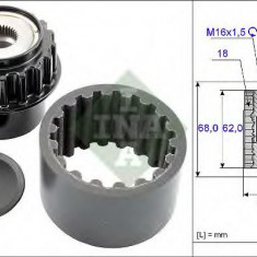 Set-mufa ambreiaj flexibil VOLVO V60 T6 AWD - INA 535 0206 10