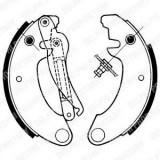 Set saboti frana CITROËN 2 CV 6 - DELPHI LS1157