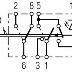 Comutator, lumini de avarie - HELLA 6HH 007 832-721 - Regulator tensiune alternator
