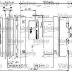 Compresor, climatizare - VALEO 815882 - Compresoare aer conditionat auto