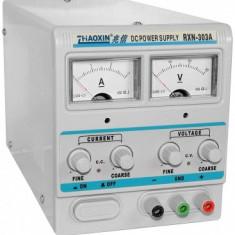 Sursa de laborator - simpla, af. analog, 0...30V - 0...3A - RXN-303A/76864 - Sursa alimentare