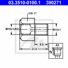 Adaptor, conducte frana - ATE 03.3510-0100.1