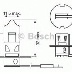 Bec, far faza lunga FORD ESCORT Mk V 1.8 D - BOSCH 1 987 302 031 Sachs