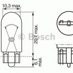 Bec, lumini de stationare GAZ GAZELLE platou / sasiu 2.8 TD - BOSCH 1 987 302 286 Sachs