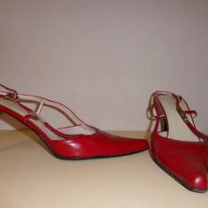 Pantofi piele lacuita GUCCI originali - Pantof dama Gucci, Culoare: Din imagine, Marime: 39.5, Piele naturala