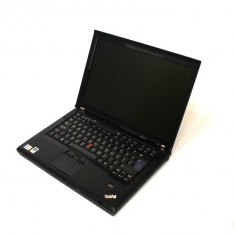 Laptop Lenovo ThinkPad T400 Intel Core 2 Duo P8700 2.53GHz, 4GB DDR3, HDD 160GB, DVD-RW, Wi-Fi, Display 14 inch (Baterie DEFECTA), Diagonala ecran: 15