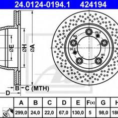 Disc frana PORSCHE BOXSTER S - ATE 24.0124-0194.1 - Discuri frana REINZ
