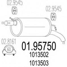 Toba esapament finala VW SHARAN 2.0 - MTS 01.95750 - Toba finala auto