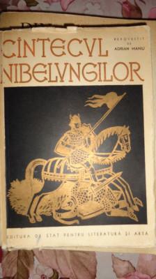 Cantecul nibelungilor (ilustratii A.Demian/ an 1958/462pag. foto