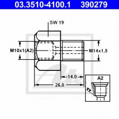 Adaptor, conducte frana - ATE 03.3510-4100.1