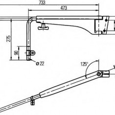 Suport montare, oglinda retrovizoare exterioara - HELLA 8HG 501 253-022