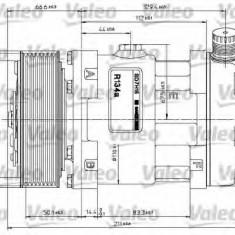 Compresor, climatizare - VALEO 815870 - Compresoare aer conditionat auto