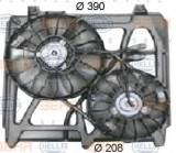 Ventilator, radiator KIA SORENTO I 2.4 - HELLA 8EW 351 034-501, PIERBURG