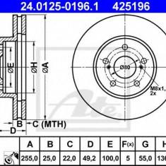 Disc frana LEXUS CT 200h - ATE 24.0125-0196.1 - Discuri frana REINZ