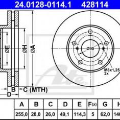 Disc frana TOYOTA SCEPTER 2.2 - ATE 24.0128-0114.1 - Discuri frana REINZ