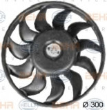 Ventilator, radiator AUDI A4 1.8 T - HELLA 8EW 351 038-371, PIERBURG