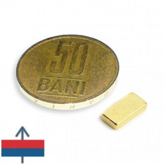 Set 20 buc magneti puternici neodim 10x5x2 auriti
