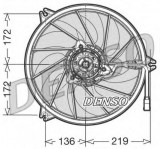 Ventilator, radiator - DENSO DER21008