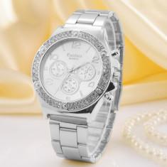 Ceas Dama Kanima Luxury Crystal Model 2016 AURIU, ARGINTIU, ROZ | CALITATE, Lux - elegant, Quartz, Inox