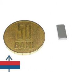 Set 20 buc magneti puternici neodim 10x5x2 magnetizare N52 neodymium ndfeb
