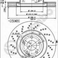 Disc frana - BREMBO 09.7960.11 - Discuri frana