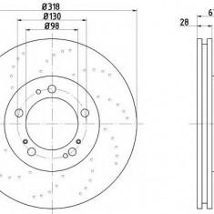 Disc frana PORSCHE BOXSTER Spyder - TEXTAR 92100010 - Discuri frana